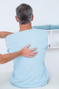 Upper back exam Bribie Osteopathy